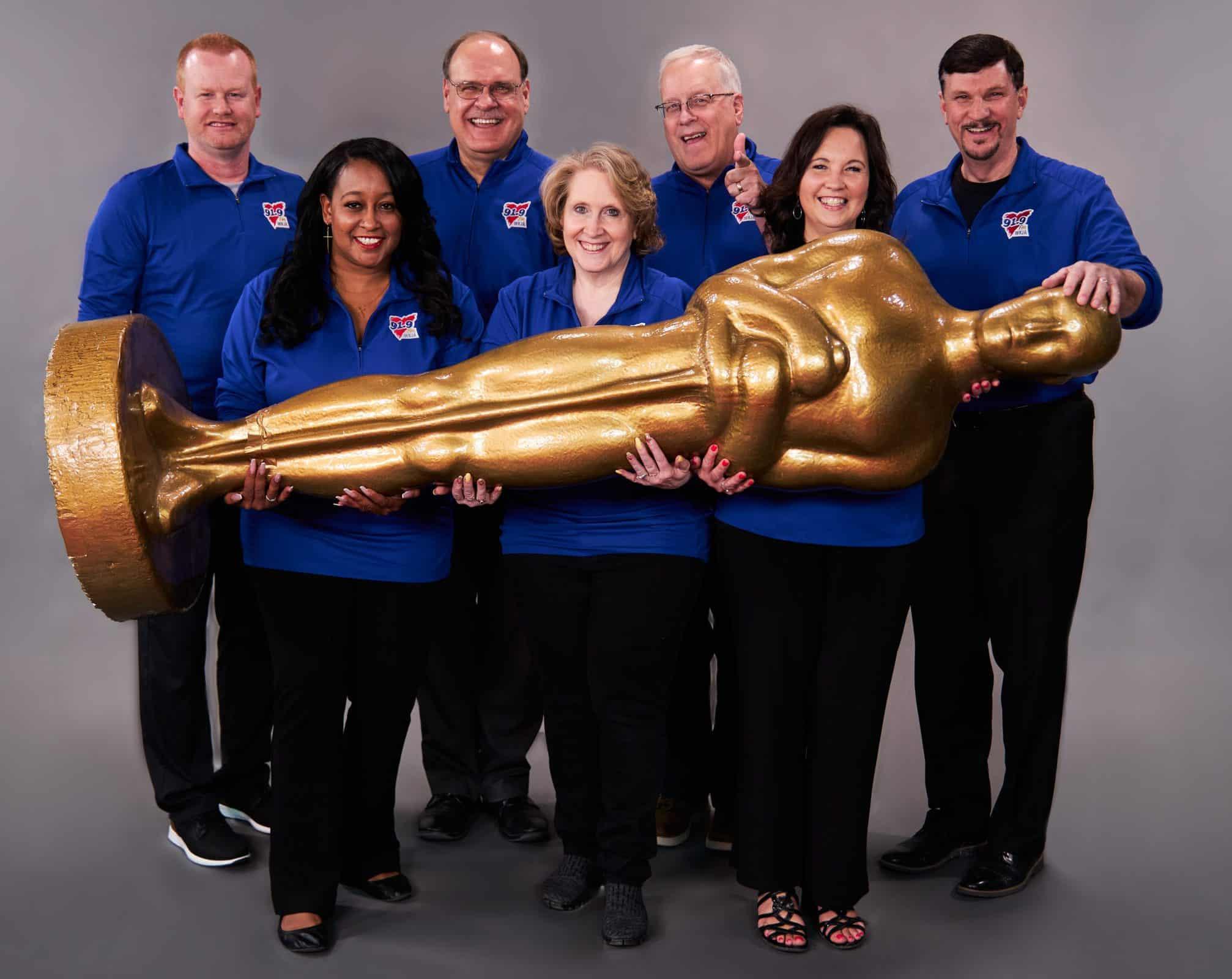 Staff with Oscar