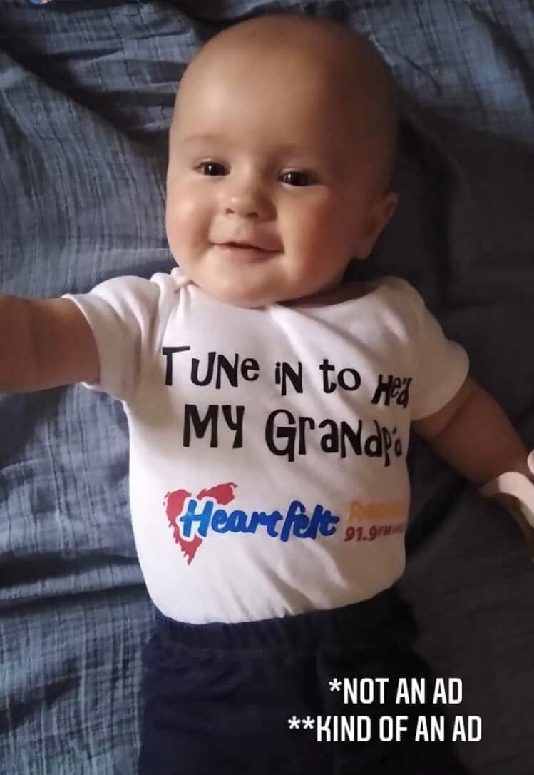 Heartfelt Radio's youngest fan
